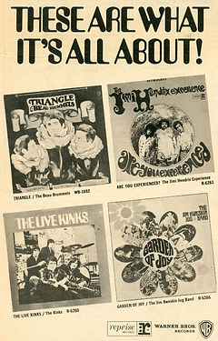 jimi hendrix newspapers 1967/ad :  reprise records