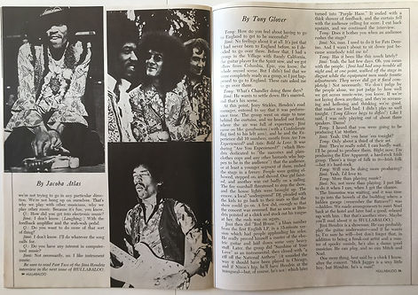 jimi hendrix magazine february 1969/hullbaloo feb 1969