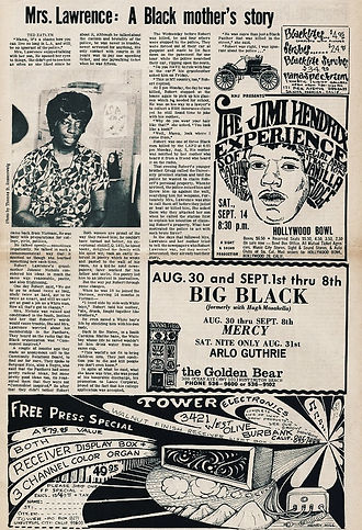 los angeles free press august 30 to september 5 1968 jimi henrix newspaper