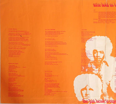 COLLECTOR AXIS BOOKLET LYRIC 1967