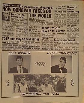 jimi hendrix newspaper/disc music echo 17/12/66
