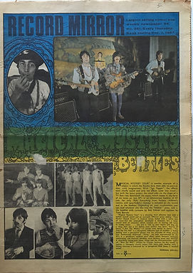 jimi hendrix collector newspaper/record mirror 2/12/1967 axis bold as love