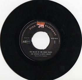 jimi hendrix vinyls singles/the ballad of jimi / side 1 pink elephant 1