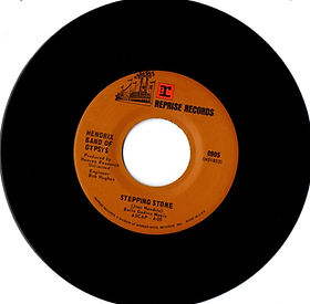 jimi hendrix collector band of gypsys singles, vinyls/stepping stone reprise records 1970 hendrix band of gypsys