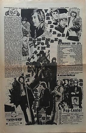 jimi hendrix newspaper 1970 /st. pauli nachrichten  march 20, 1970