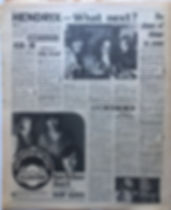 jimi hendrix newspaper 1969/new musical express march 15 1969