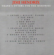 jimi hendrix bootlegs cd/thank's ottawa for the memories 1993