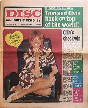 jimi hendrix newspaper 1970 /disc & music echo  feb. 14, 1970