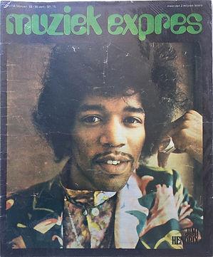 jimi hendrix magazine 1969/muziek expres february 1969 cover