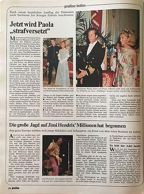 jimi hendrix magazines 1970 death/ praline : october 28, 1970