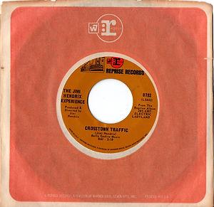 jimi hendrix collector vinyls singles 45t/crosstown traffic reprise records 1968 usa