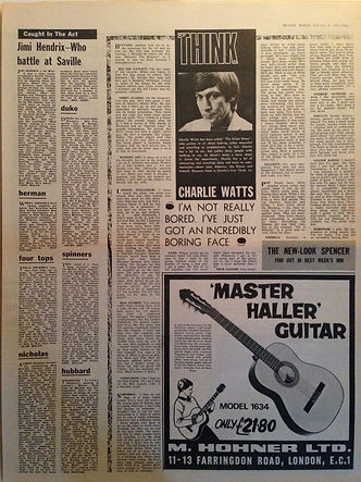 jii hendrix newspaper 1967/melody maker february 4 1967
