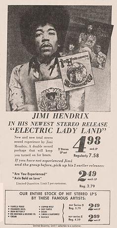 jimi hendrix newspaper 1968/AD : electric ladyland 1968