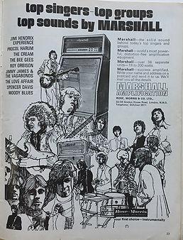 jimi hendrix magazine/beat instrumental 1968
