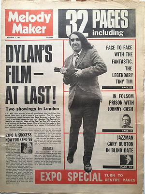 jimi hendrix newspaper 1968/melody maker november 2 1968