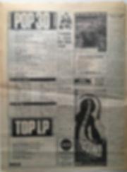 jim hendrix newspaper 1968 / melody maker  pop 30