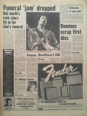 jimi hendrix newspapers: melody maker /  October 3, 1970