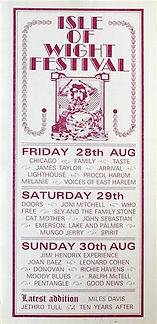 jimi hendrix memorabilia 1970/ flyer isle of wight festival 1970