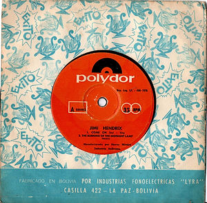 jimi hendrix collector EP vinyls 45r/EP side A/el inmortal gypsy eyes/burning of the nidnight lamp/bolivia polydor 1970