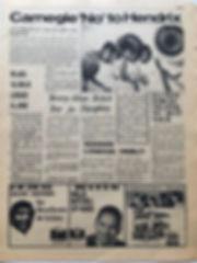 jimi hendrix newspaper 1968/go october 11 1968 : carnegie 'no 'to hendrix