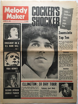 jimi hendrix newspaper 1968/melody maker october 26/1968