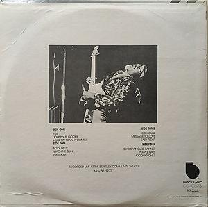 jimi hendrix bootlegs vinyls 1970 / jimi hendrix live  black gold 2lp  1981