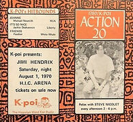 jimi hendrix memorabilia 1970 / flyers  hic