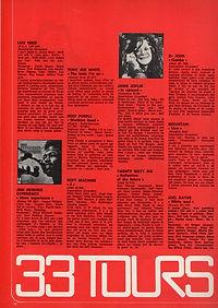 jimi hendrix magazines 1971 / best N°47 June1972