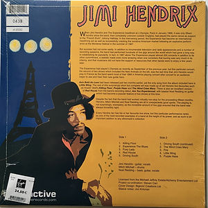 jimi hendrix lp albums vinyls/live at l'olympia paris radioactive lp