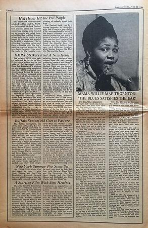 jimi hendrix newspaper/rolling stone june 22 1968/a starting film with jimi hendrix