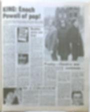 jimi hendrix newspaper 1968/disc music echo/presley-hendrix 21/12/68