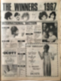 jimi hendrix collector newspapers/pop poll all the winners 1967
