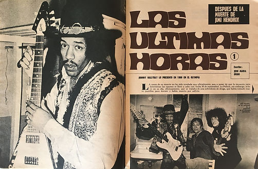 jimi hendrix magazines 1970 death/ joven : october 31, 1970