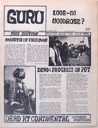 jimi endri newspaper/guru october 6 1968 usa