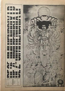 jimi hendrix newspaper/hit week n°12 /8/12/67