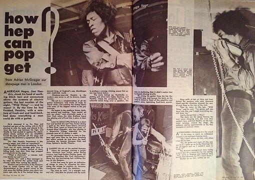 jimi hendrix magazine/pix june 67