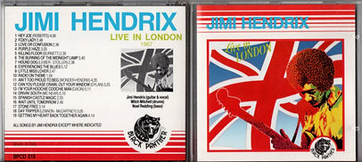 jimi hendrix collector bootlegs cds/live in london 1989 black panther