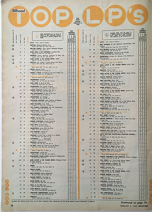 jimi hendrix magazines/billboard 3/2/68 top lp/are you experienced N°19