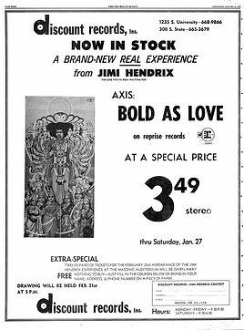 jimi hendrix memorabilia 1968 / axis bol as love