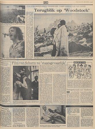 jimi hendrix newspapers 1970 / het parool april 3,1970