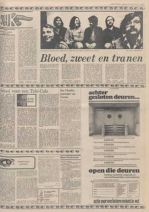 jimi hendrix newspapers 1970 / het parool  September 19,  1970