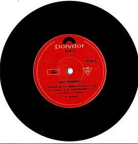 jimi hendrix collector EP/vinyls 45r/EP crosstown traffic argentina 1969 polydor