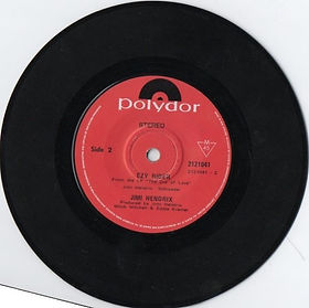 jimi hendrix collector vinyls/singles  ezy rider polydor new zealand 1971