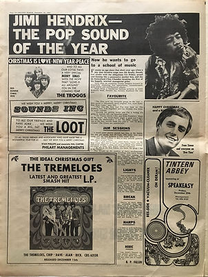 jimi hendrix the pop sound of the year/melody maker 23/1/1967