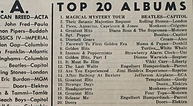 jimi hendrix newspaper/go top 20 album /