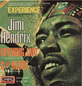 "jimi hendrix vinyls singles/opening jam/c""blues /france 1971 vogue"