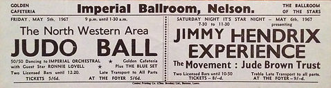 jimi hendrix rotily collector/imperial ballroom nelson 6/5/67