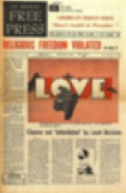 jimi hendrix newspaper 1968/los angeles free press / november 29 1968