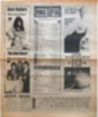 jimi hendrix newspaper/new musical express july 6 1968 top 15 LPs/smash hits N° 9