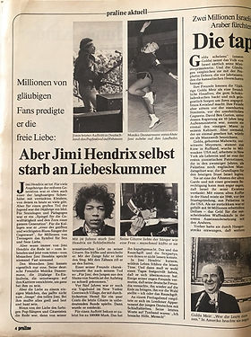 jimi hendrix magazines 1970 death/ praline : october 7, 1970